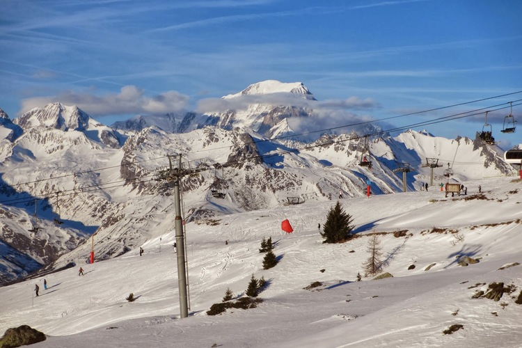 Mont Blanc from Les Arcs