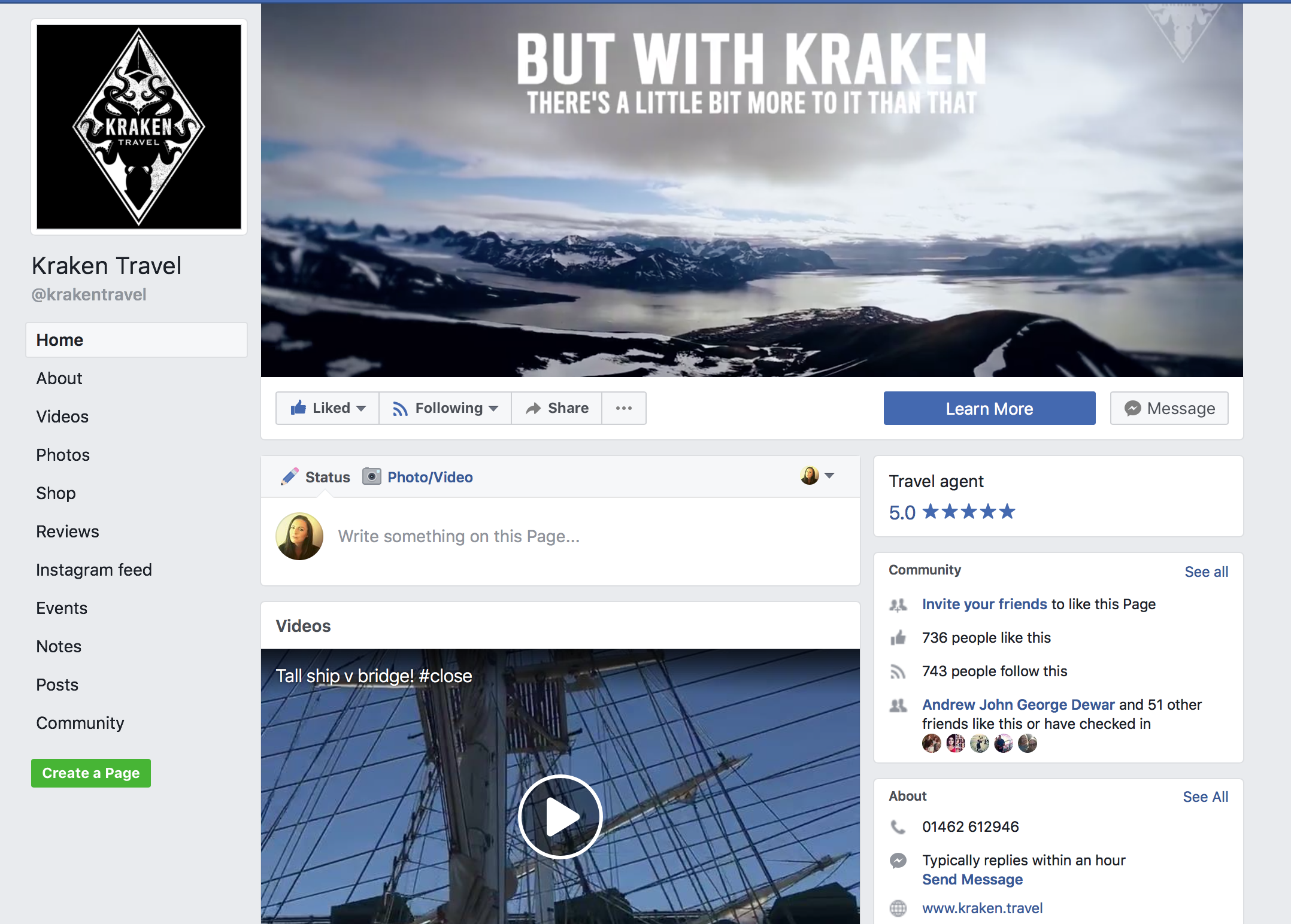 Kraken Travel on Facebook