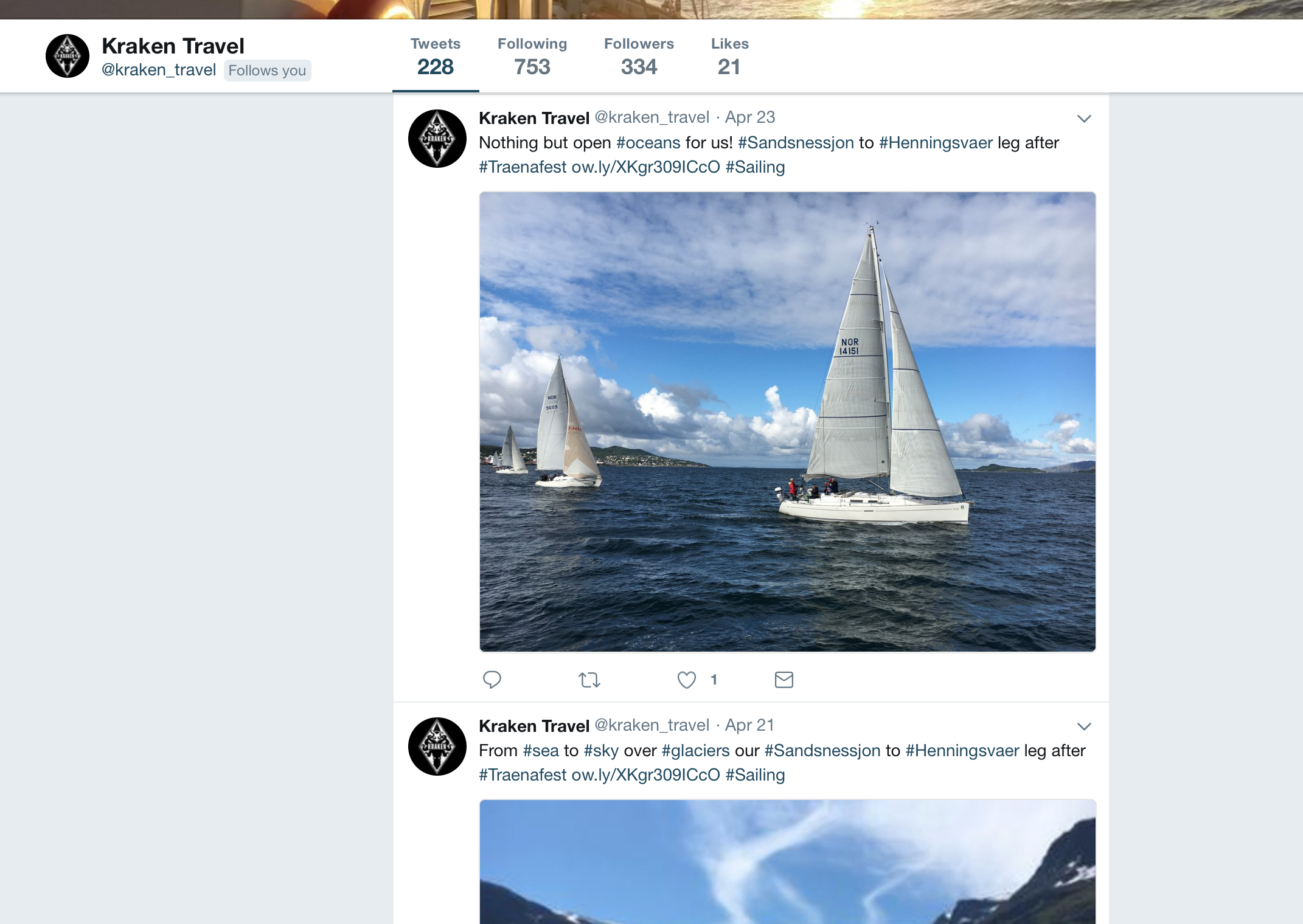 @Kraken_travel on Twitter