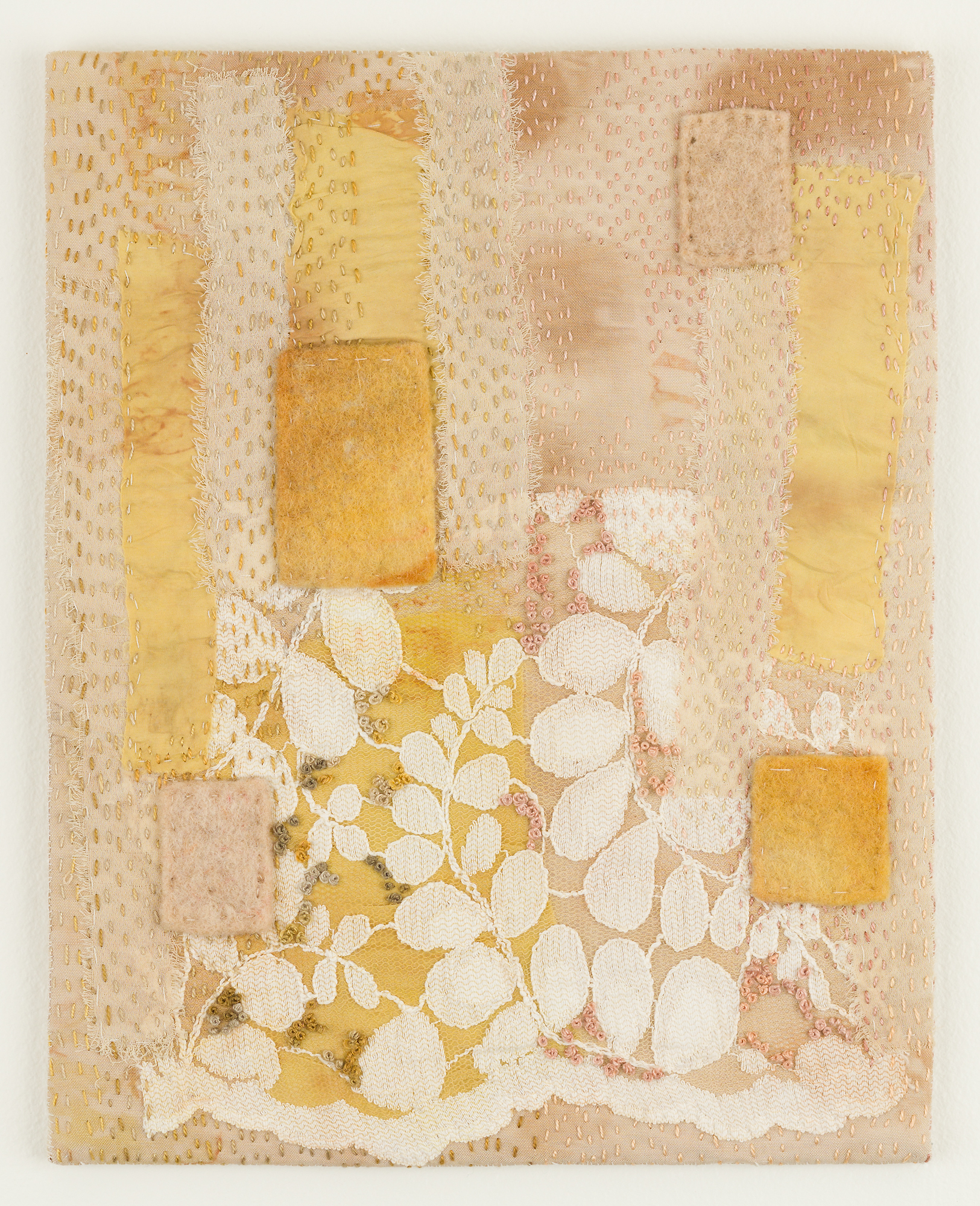 Layers -  Natural dyes leave a lasting imprint on the cloth preserving layers of experience. The concept behind this work is to expose interconnections, making the intimate relationship between fibers and plants visible.