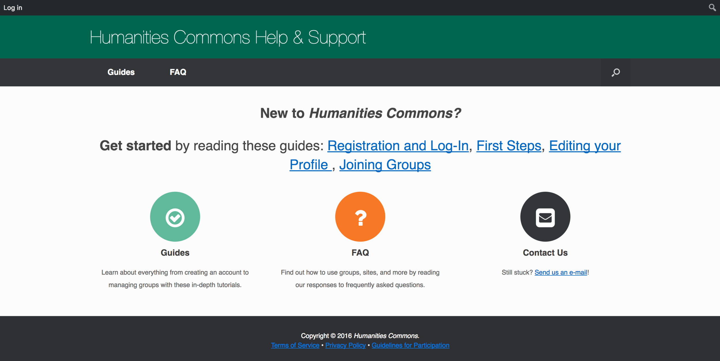 Humanities Commons Help Site