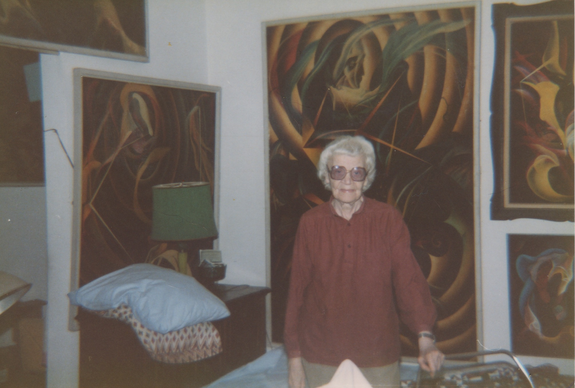 Peavy in her Upper-Westside New York Apartment, which she called               Lacamo Gallery,  circa 1988
