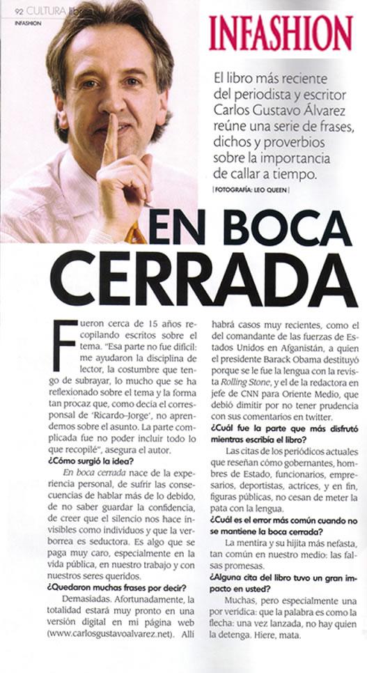 Revista Infashion, Edición No. 50 - agosto de 2010, Página 92