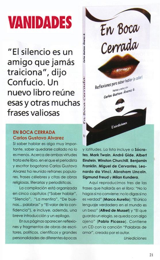 Revista Vanidades, Año 50, Número 17, 14 de agosto de 2010, Página 21