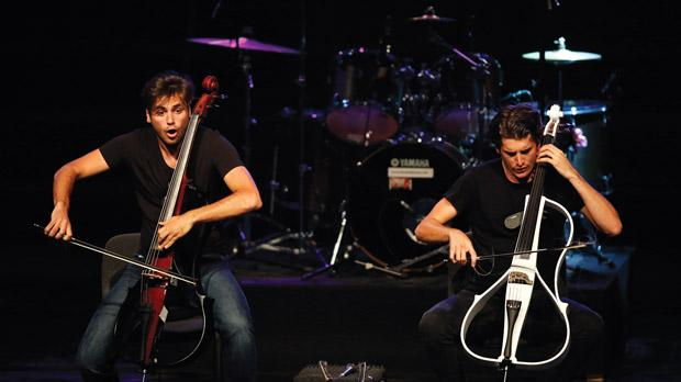 2Cellos rocking the stage. Photo: Darrin Zammit Lupi