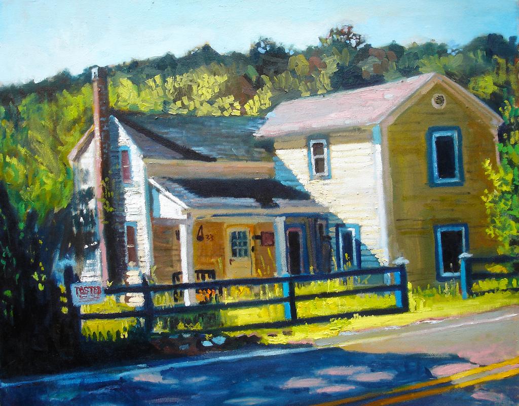 Rolling River Inn painted by artist Galen Pittman