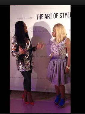 MArlo Hampton with Miss Lisa Knows , NYC Blogger & Socialite