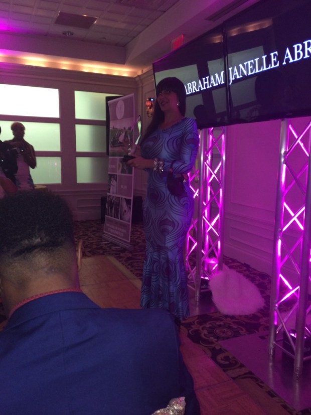Chrissy Monroe of Vh1 Love and Hip Hop presenting an IED Award