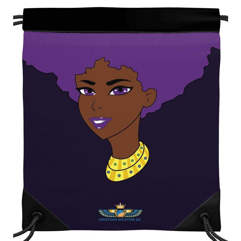 Purple Afro Diva Drawstring Bag.jpg