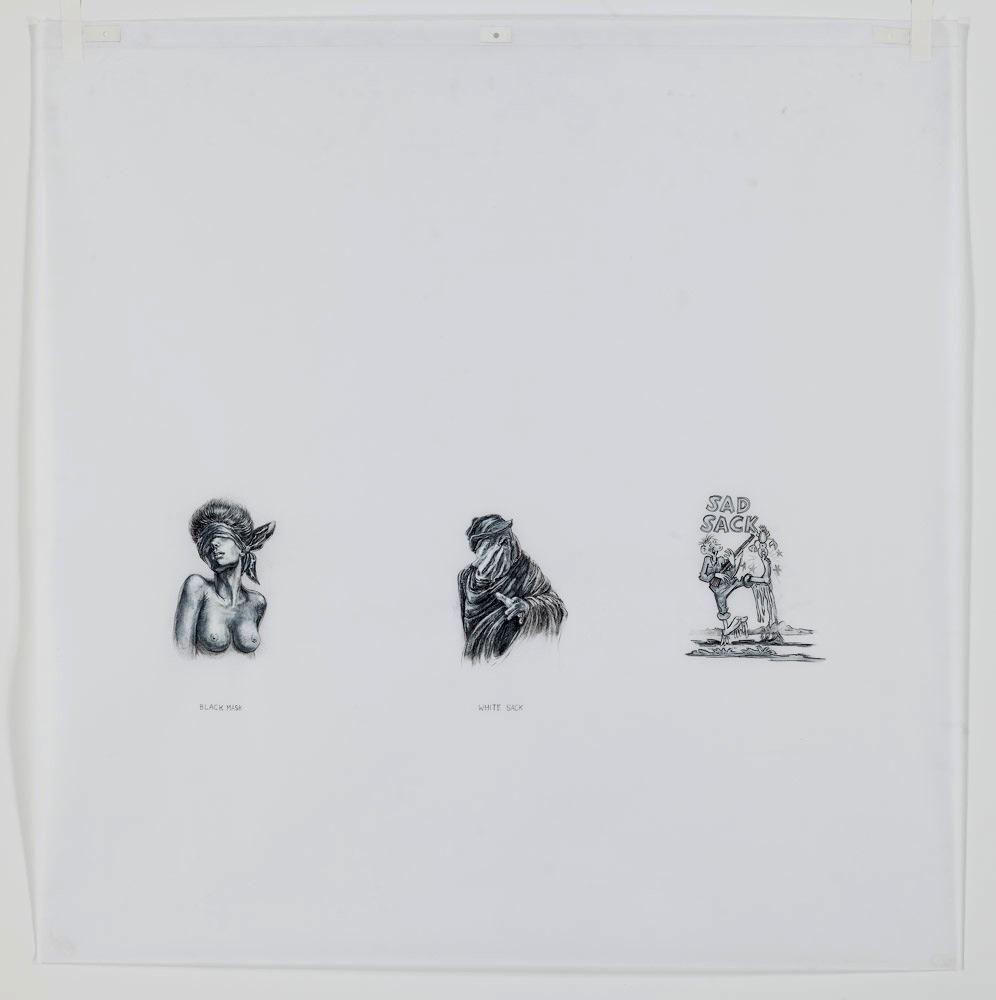 Black Mask, White Sack, Sad Sack. 2012