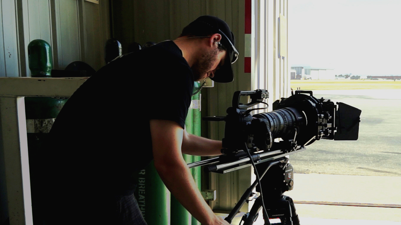 Director/Cinematographer on Commercial Shoot