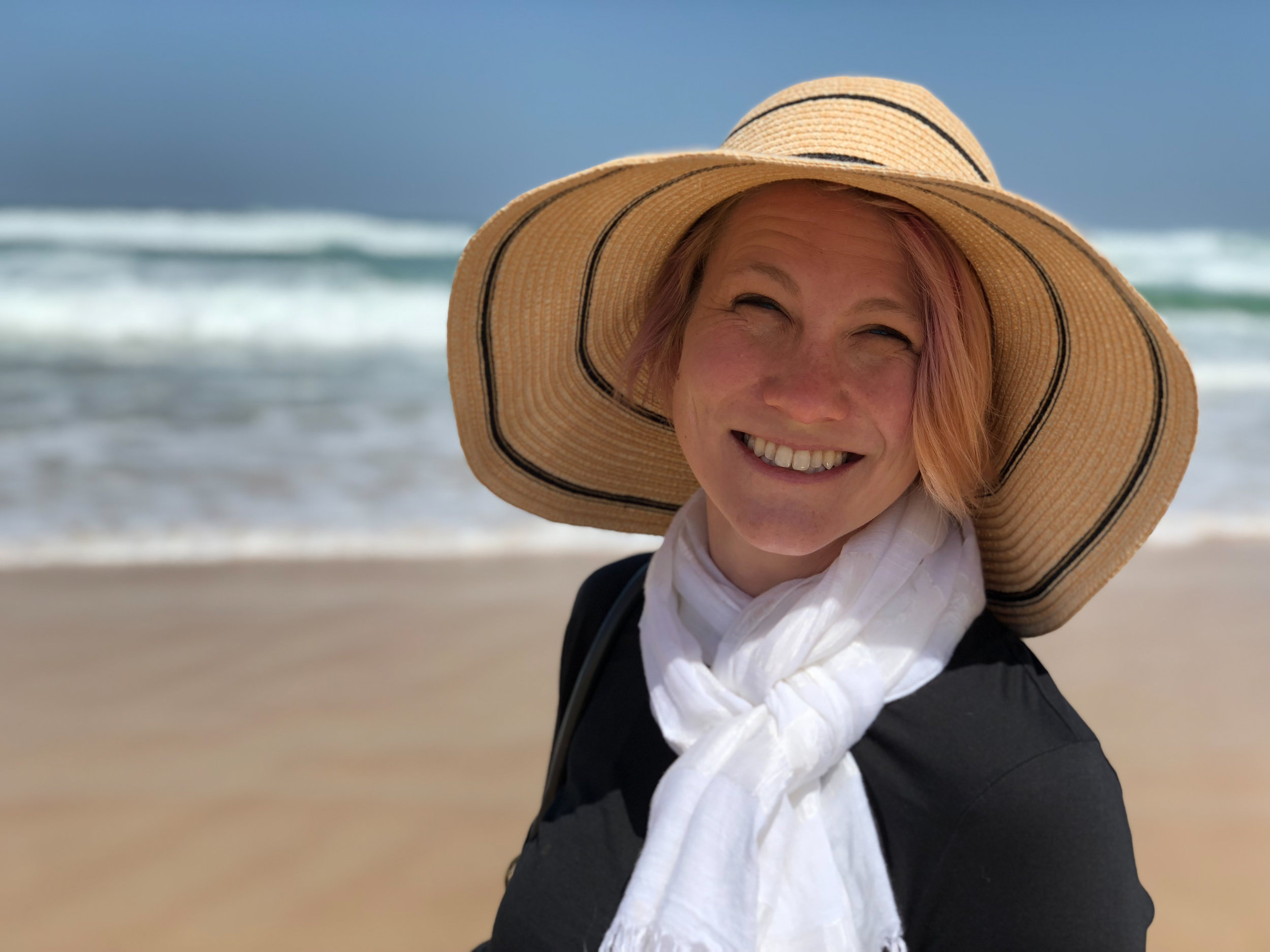 Enjoying the beaches of Senegal.