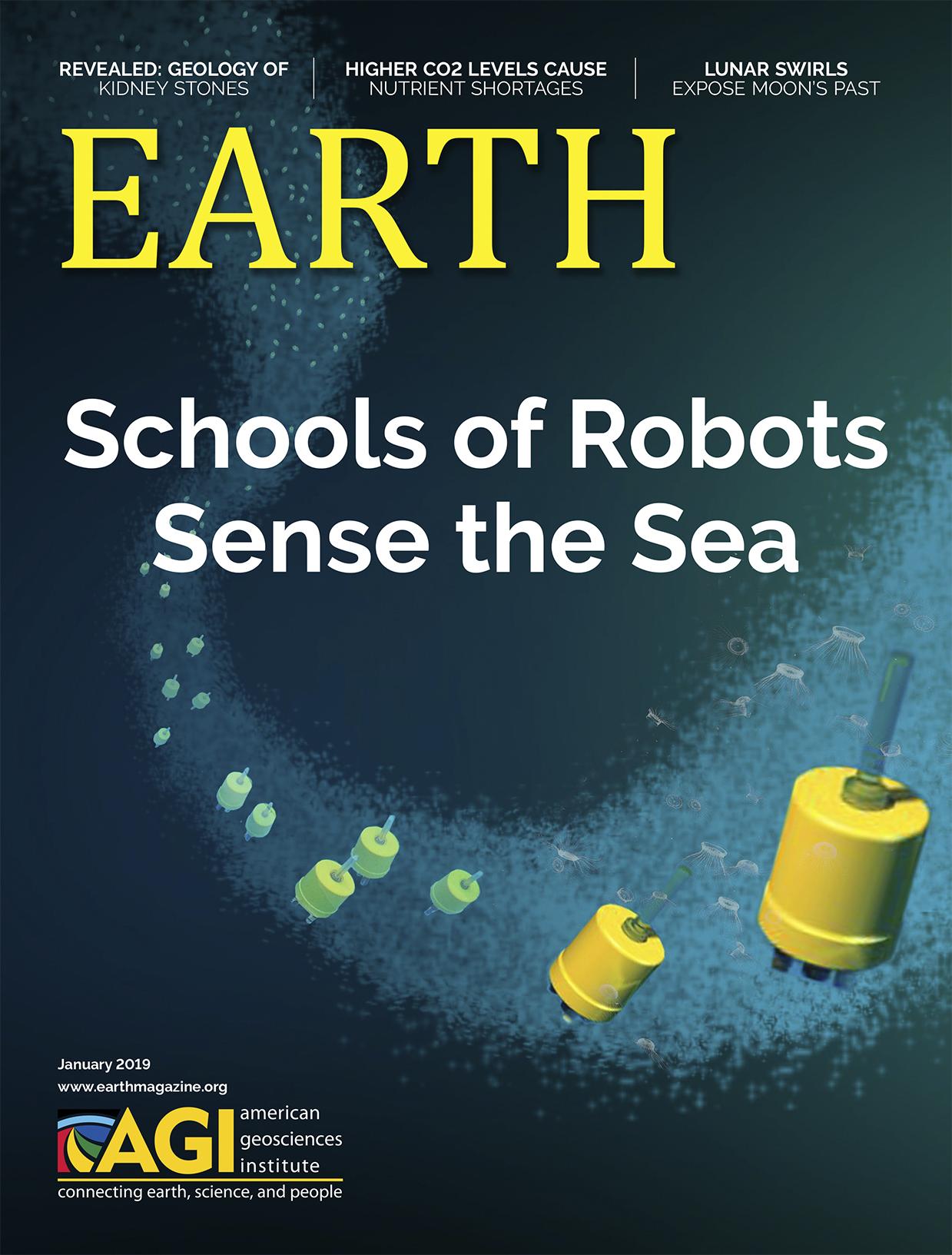 January 2019  EARTH Magazine, layout by Nicole Schmidgall  www.nicoleschmidgall.com