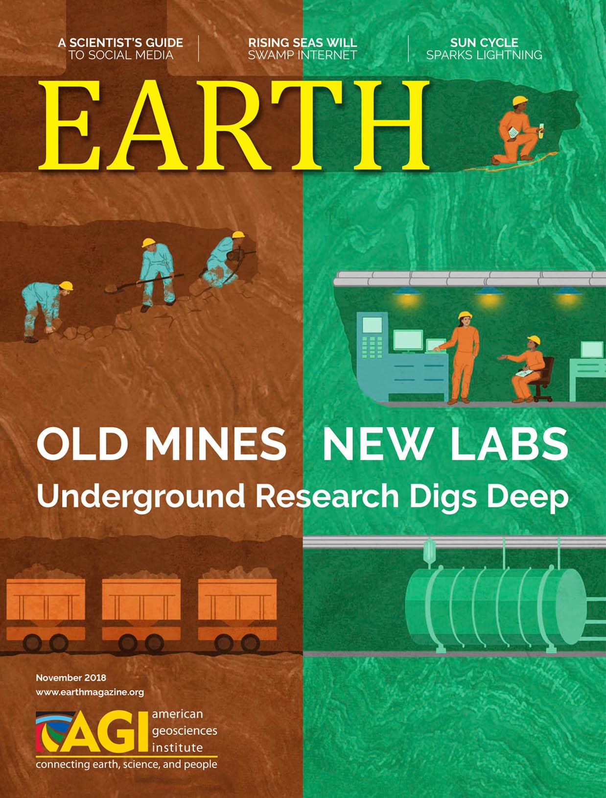 November 2018  EARTH Magazine, layout by Nicole Schmidgall  www.nicoleschmidgall.com