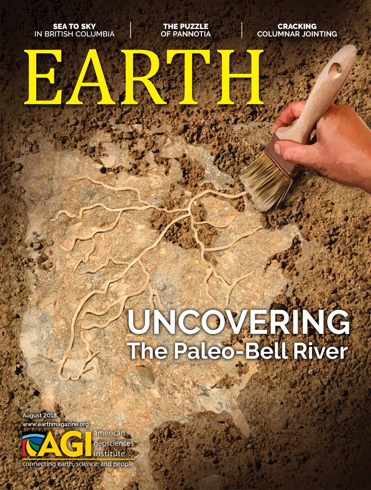 August 2018  EARTH Magazine, layout by Nicole Schmidgall  www.nicoleschmidgall.com