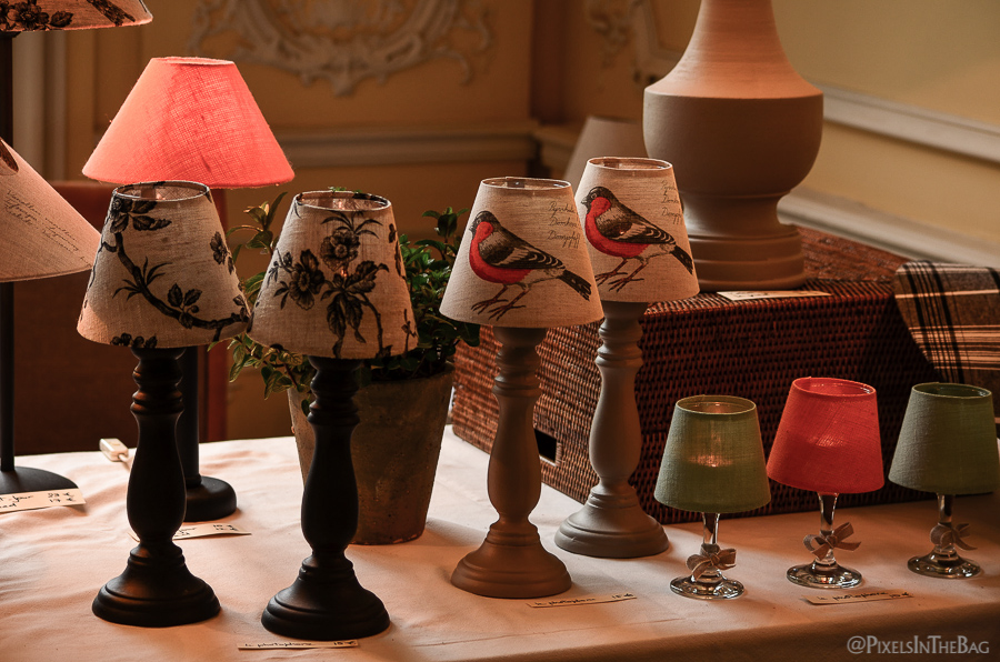 A series of hand-crafted lamps.
