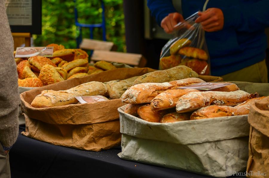 Local Belgian bread.