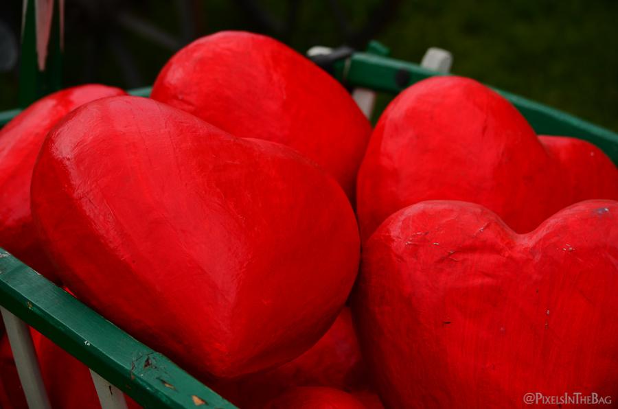 Outdoor hearts.