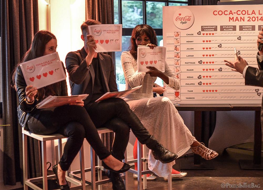 Le jury pour Coca-Cola Light Man 2014.