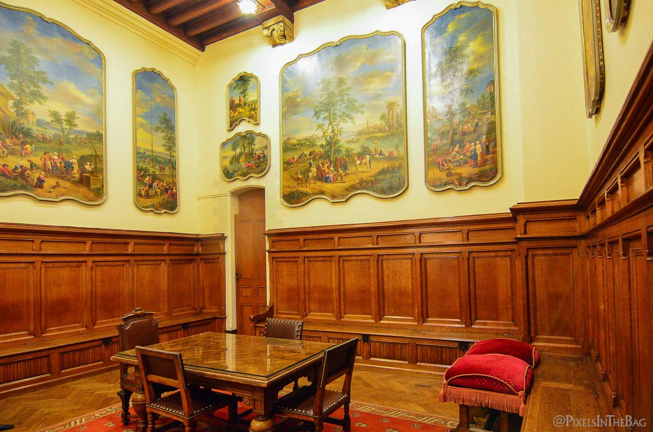 Interieur de l'Hotel de Ville de Bruxelles à la Nocture des Musées.