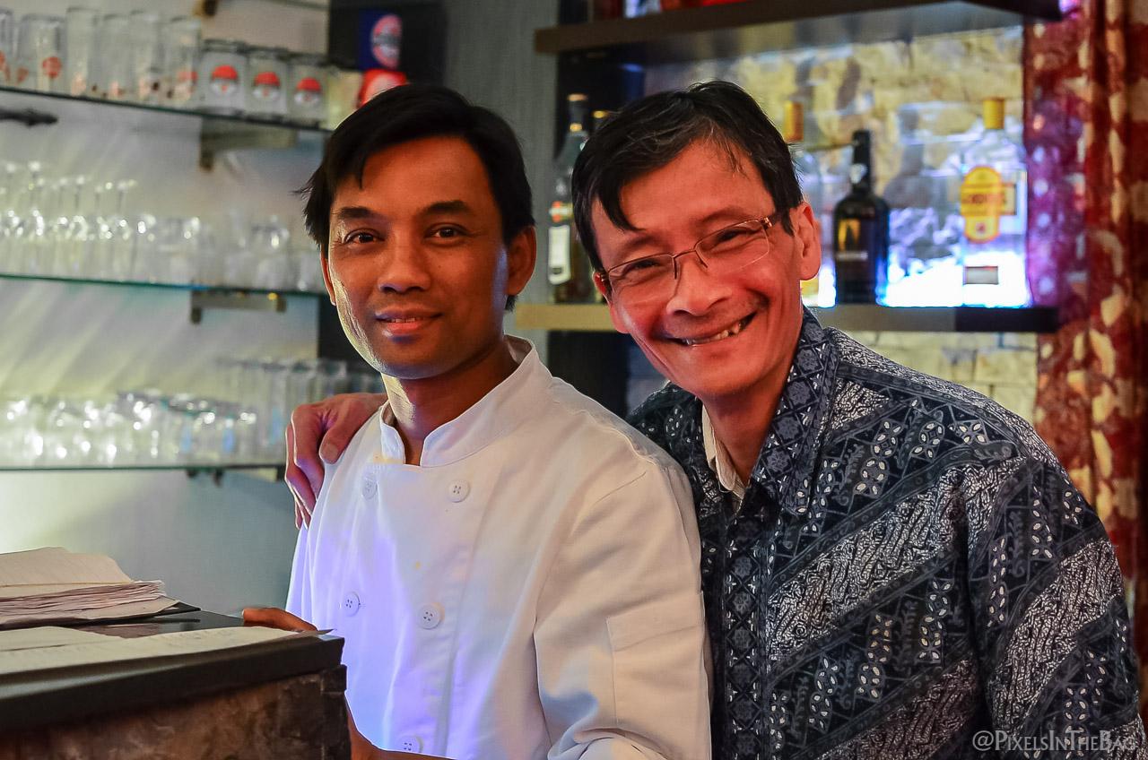 Le patron de Garuda et son fils.