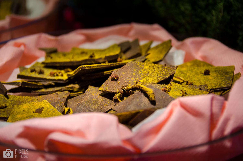 Chocolat au curcuma chez Radisson Blu Royal.