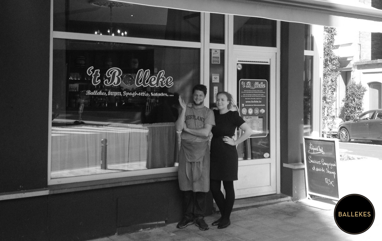 Photo prise du site de  Ballekes  représentant le couple initiateur de la  meatballs revolution .