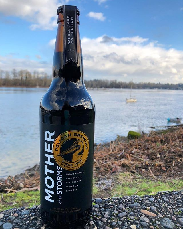 We only have a few bottles of @pelicanbrewing Mother of all Storms left! This 11x medal winning beer is featured in our Rare and Barrel Aged Duo and the Premium Bouquet. Mother of all Storms spends a year aging in Kentucky bourbon barrels, producing an English-Style Barleywine worthy of any special occasion...or just a random rainy week night.🍻🤷♀️