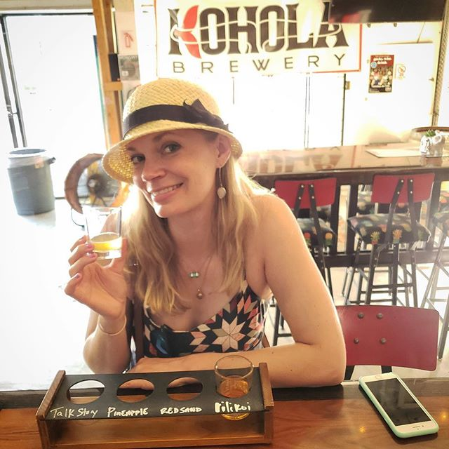Happy National Beer Day! 🍻 I'm just pretending that I'm back in Maui at @koholabrewery sipping on their Pineapple beer that's to die for. 😁🤷🏼‍♀️
