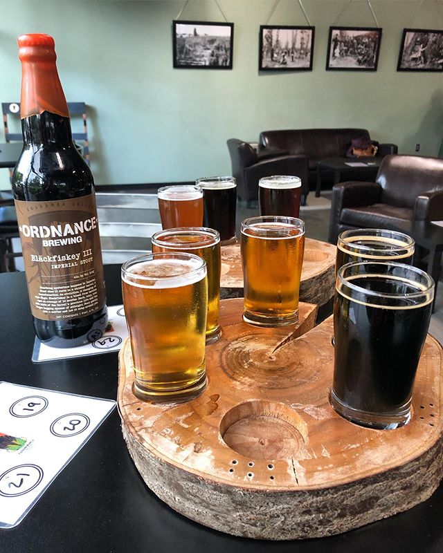 Friday afternoon taste test at @ordnancebrewing 🍻