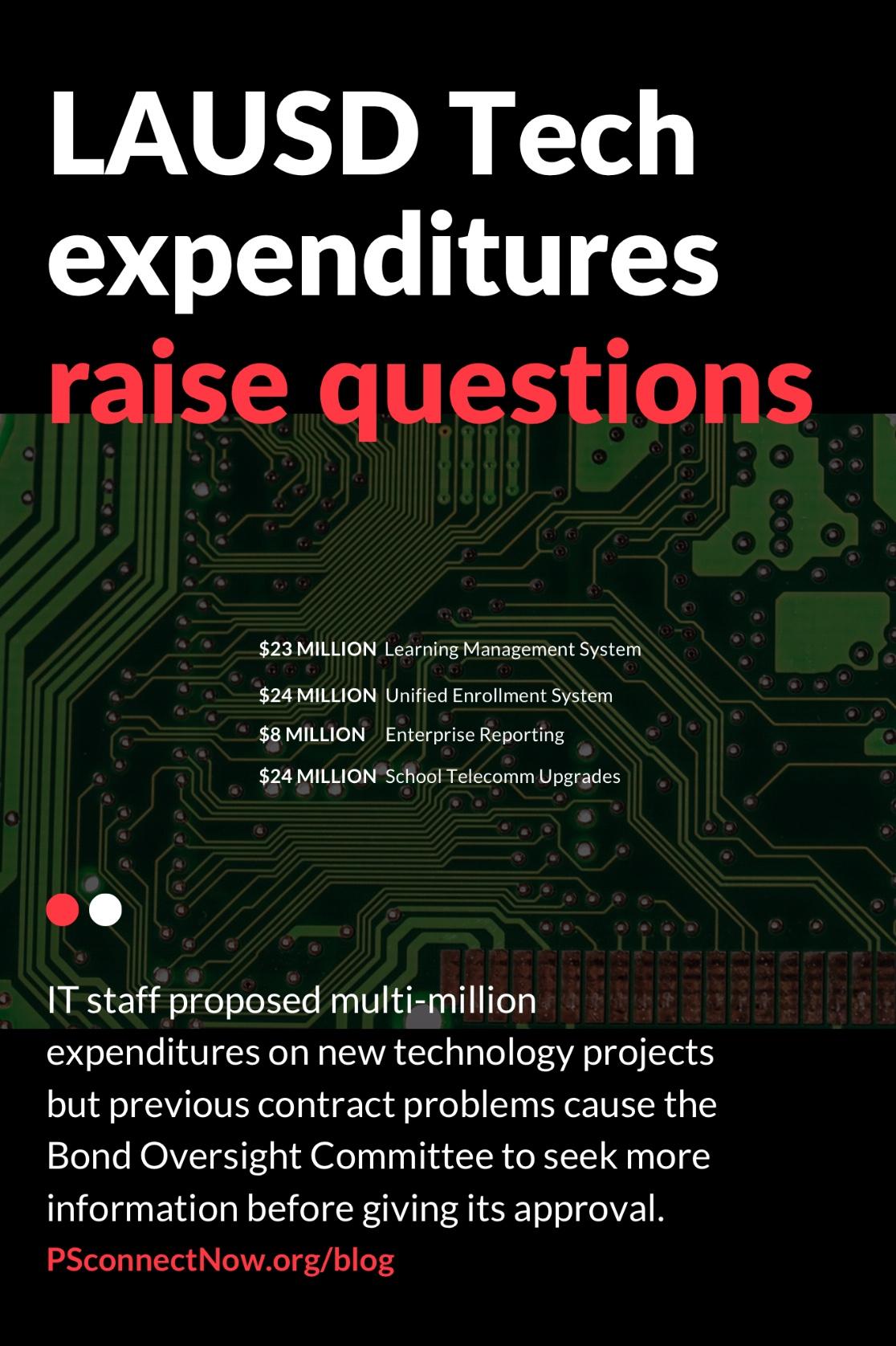 LAUSD Tech expenditures raise questions