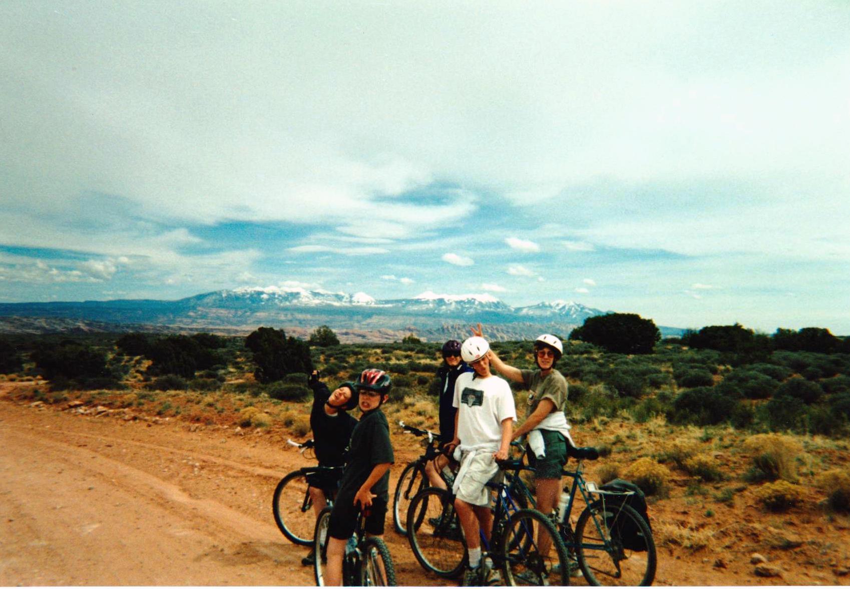 Brett, Rory, Michele, Mom and I on Bikes.jpg