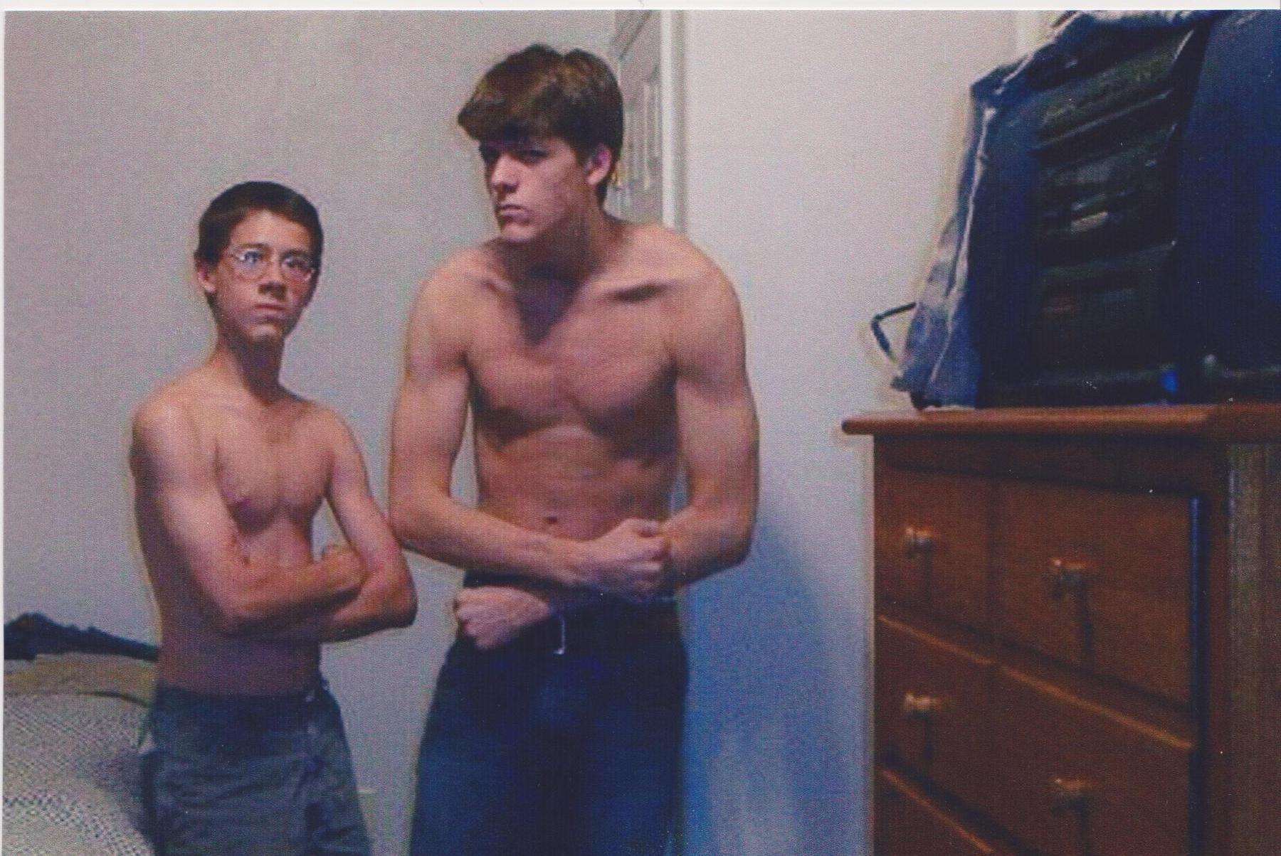 Evan and I shirtless older.jpg