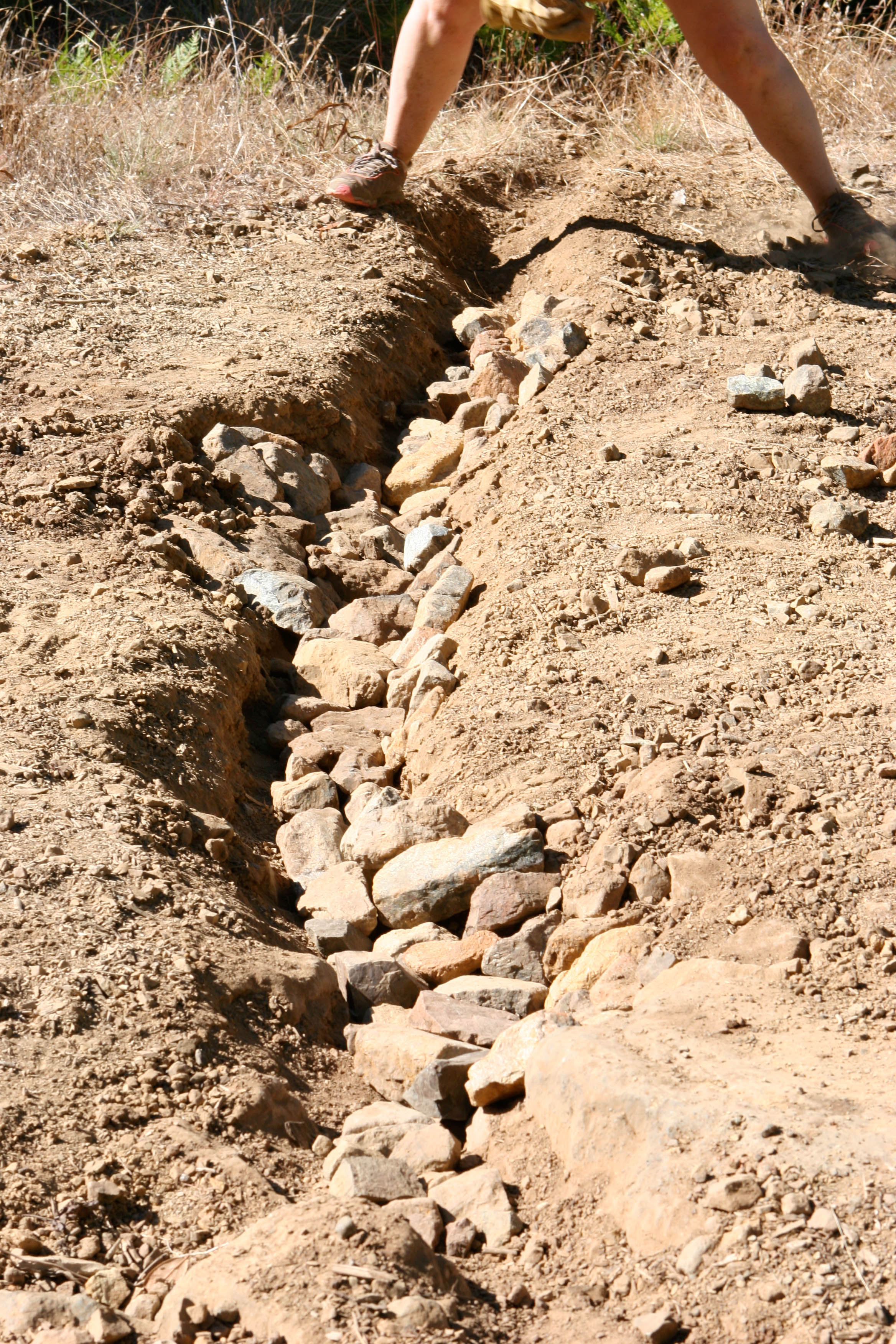 A newly dug ditch that washed away the following winter. Ugh.