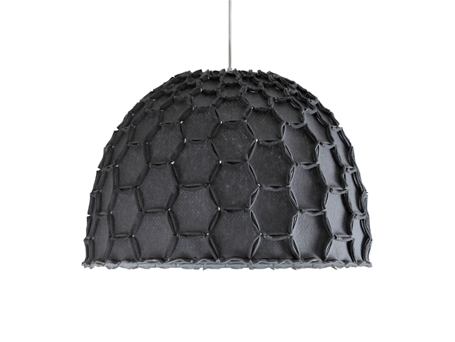 Nectar large half lampshade dark grey whiteBG - Designer Designtree.jpg