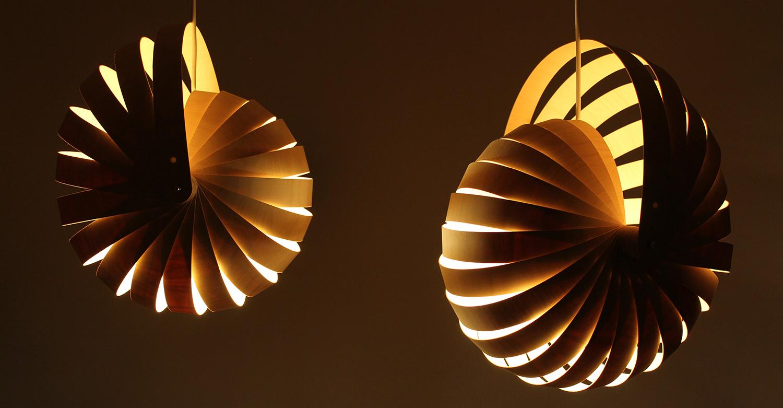 Nautilus lampshade small & med natural 02 - Designer Rebecca Asquith.jpg