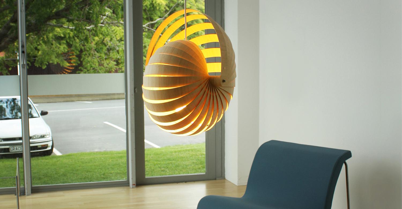 Nautilus lampshade insitu - Designer Rebecca Asquith.jpg