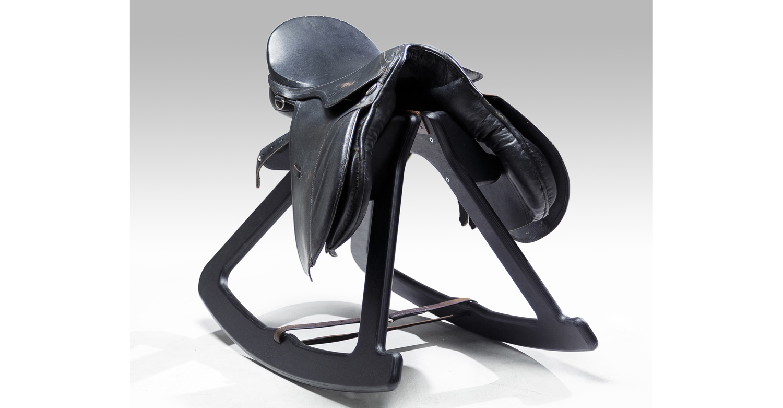 Giddyup rocking stool black stain 1- Designer Tim Wigmore for Designtree.jpg