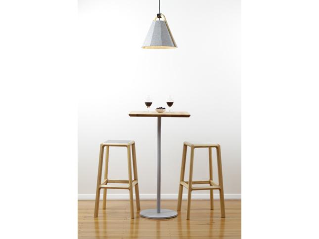 Frankie pendant & Chamfer stool tall insitu 02 - Designer Designtree.jpg