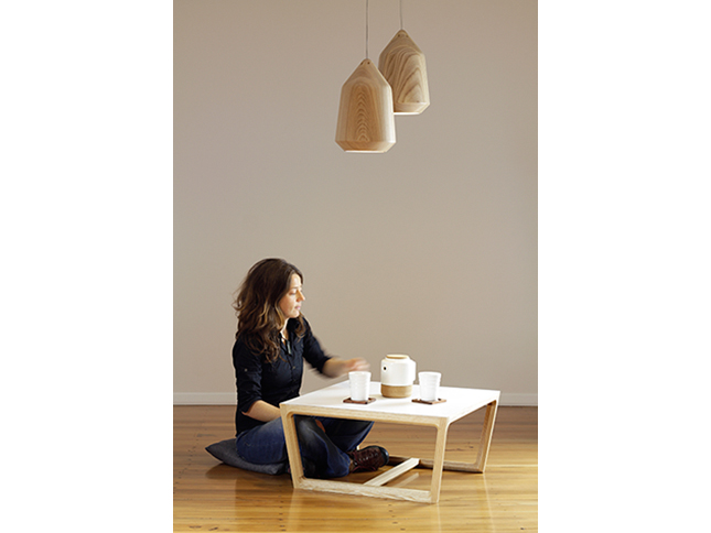 Acorn pendant and Chamfer coffee table - Designer Designtree.jpg