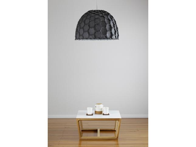 Nectar large half lampshade dark grey with chamfer coffee table - Designer Designtree.jpg