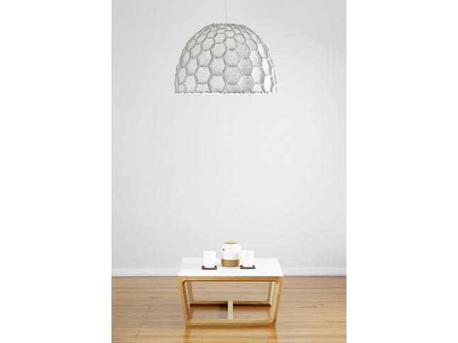 Nectar large half lampshade light grey with chamfer coffee table - Designer Designtree.jpg
