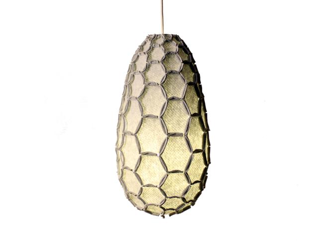 Nectar lampshade Full light grey - Designer Rebecca Asquith.jpg