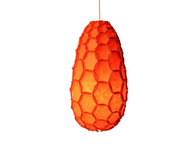 Nectar lampshade Full orange - Designer Rebecca Asquith.jpg