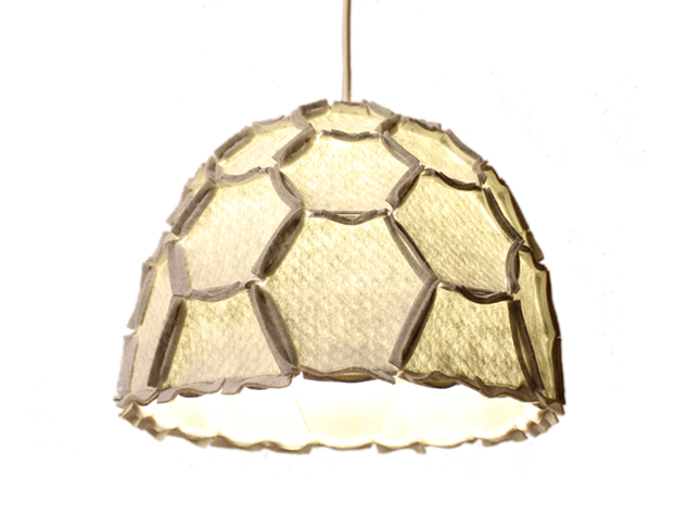 Nectar lampshade Half light grey - Designer Rebecca Asquith.jpg