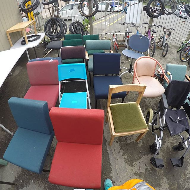 These old chairs at dump shop were the inspiration and starting point for another of Designtree's outcomes from the Resource Rise Again project where we designed a series of furniture pieces using waste materials.