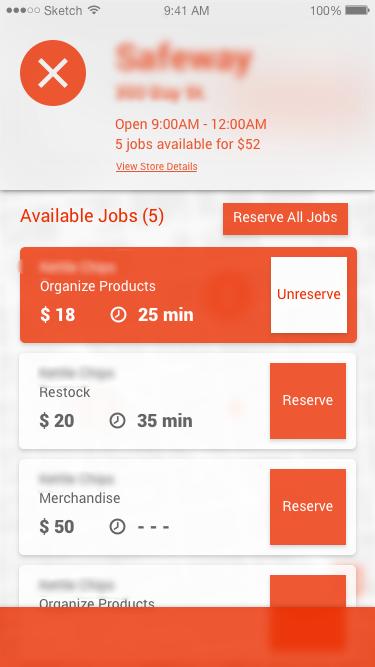 Reserve job