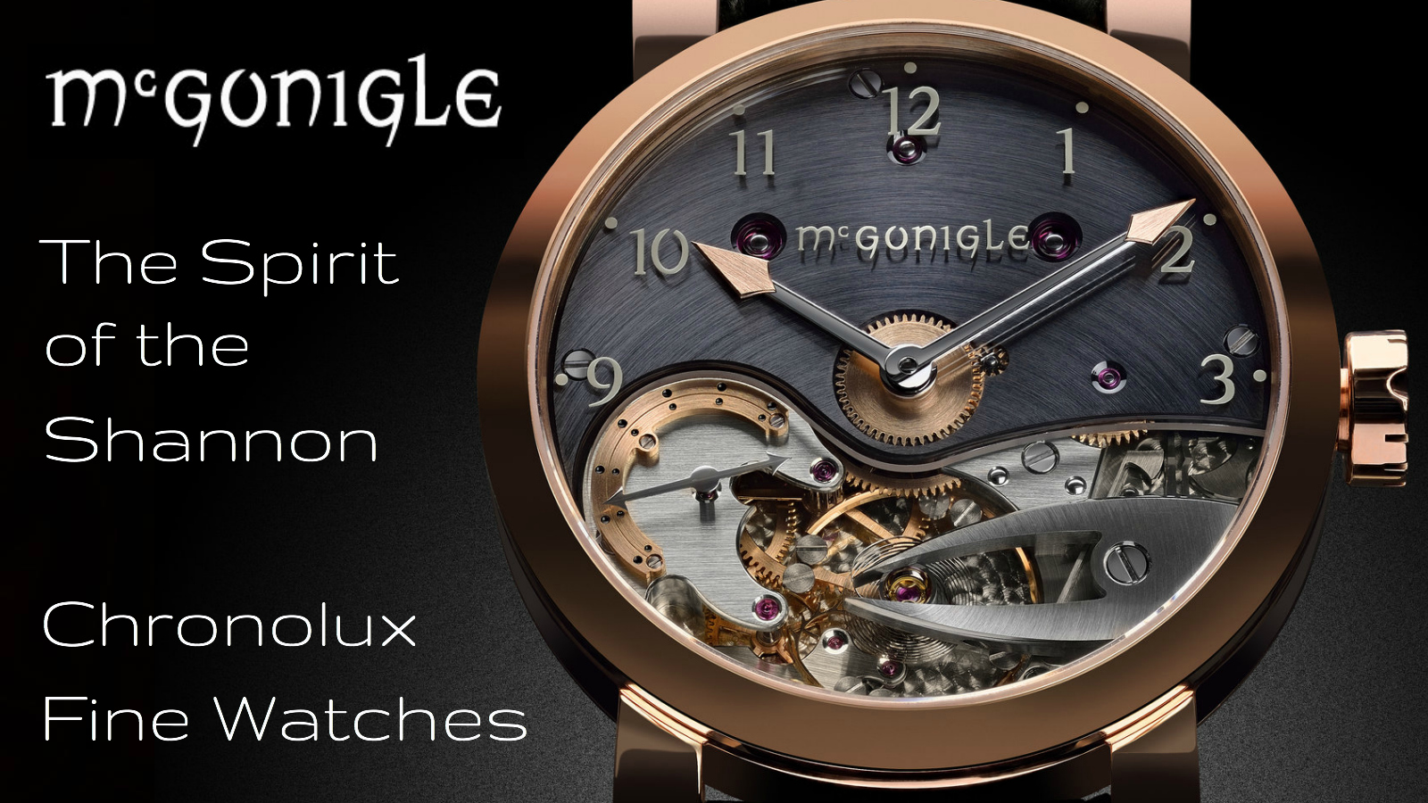 McGonigle watchmakers - Independent Watchmaking at Chronolux Fine Watches