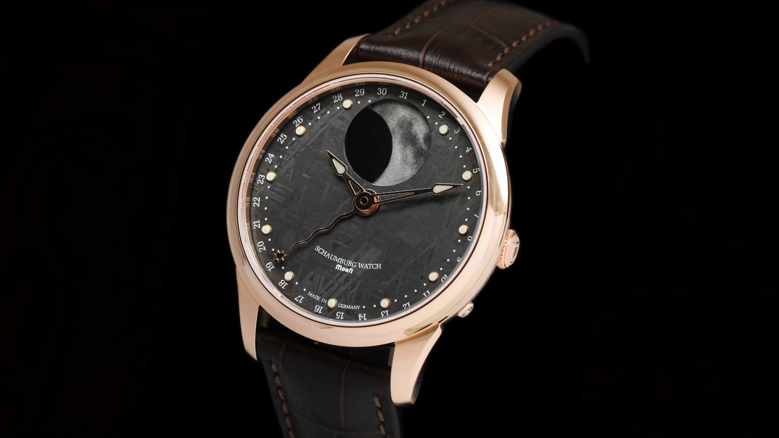 Schaumburg Watch MooN Meteor 18Kt rose gold