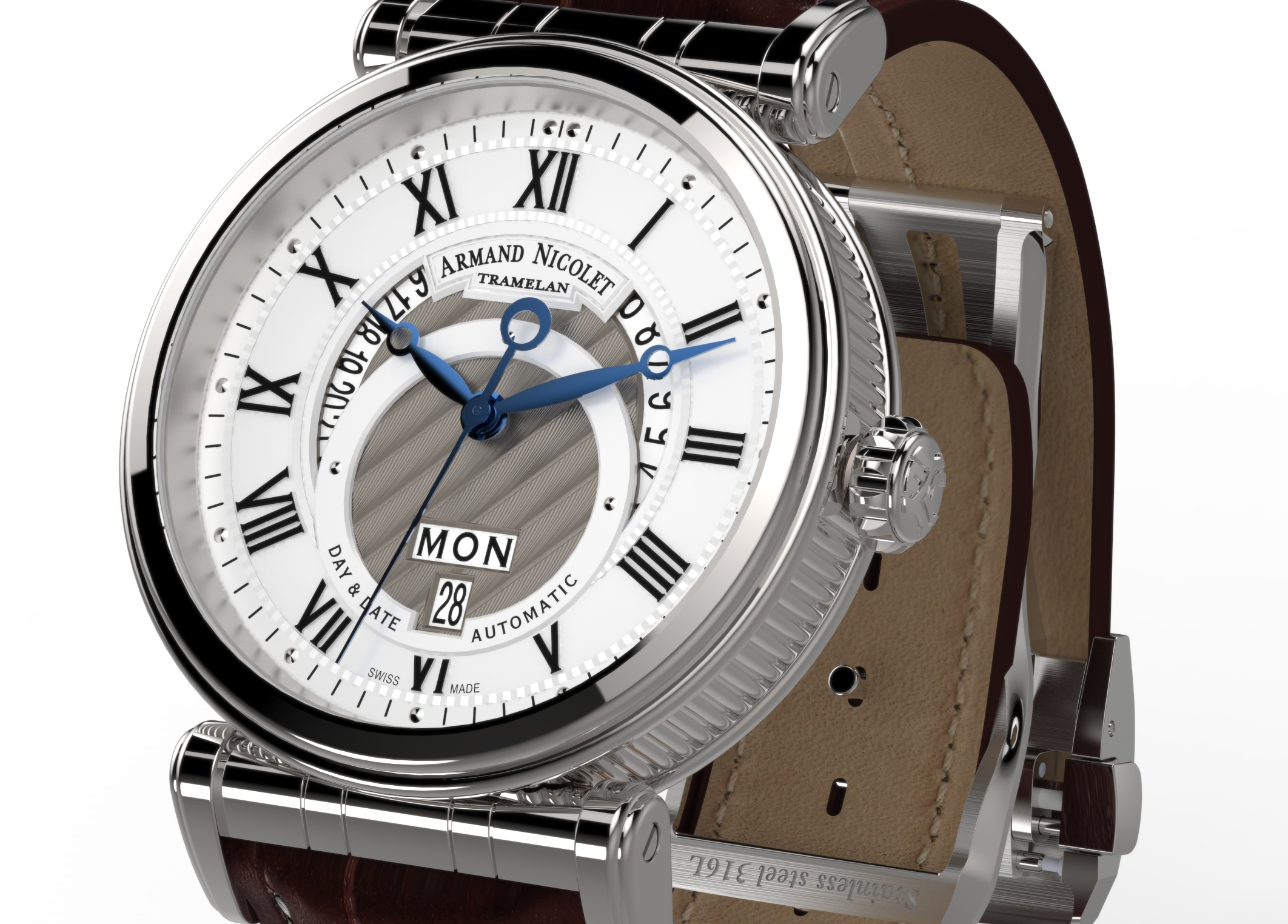 Armand Nicolet Arc Royal Day and Date A420AAA-AG-P974MR2